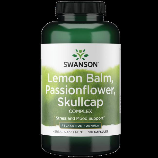 Swanson PremiumLemon Balm, Passion Flower, Skullcap Complex