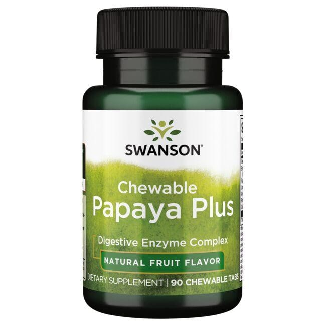Swanson PremiumChewable Papaya Plus