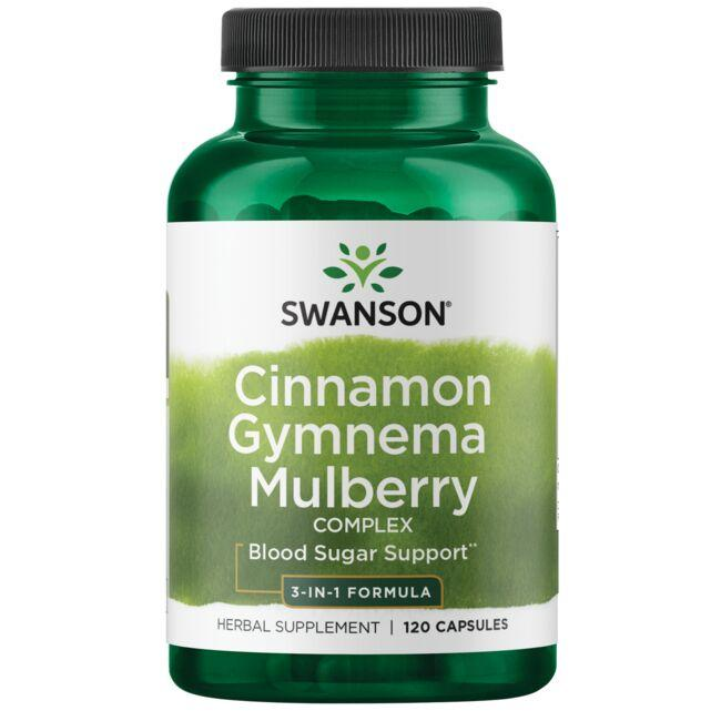 Swanson PremiumCinnamon Gymnema Mulberry Complex - 3 in 1 Formula