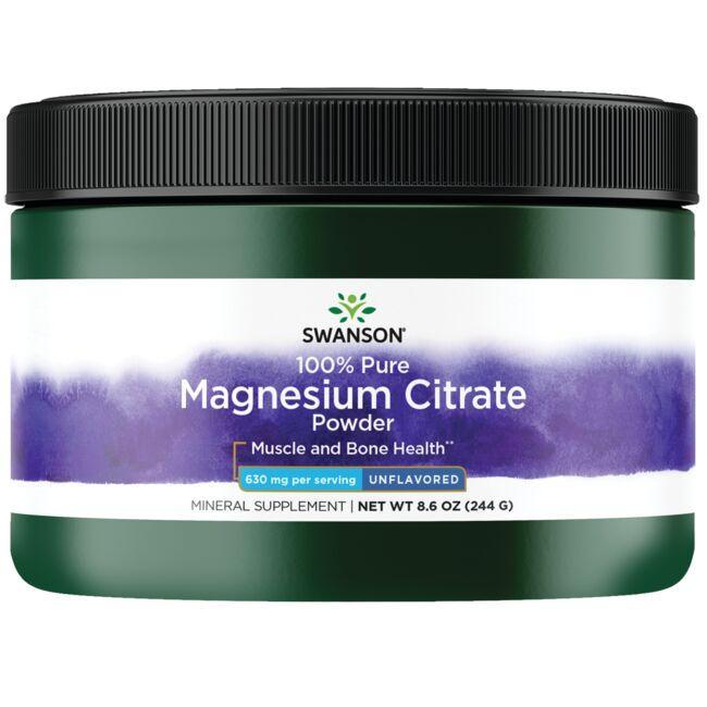 Swanson PremiumMagnesium Citrate Powder - 100% Pure
