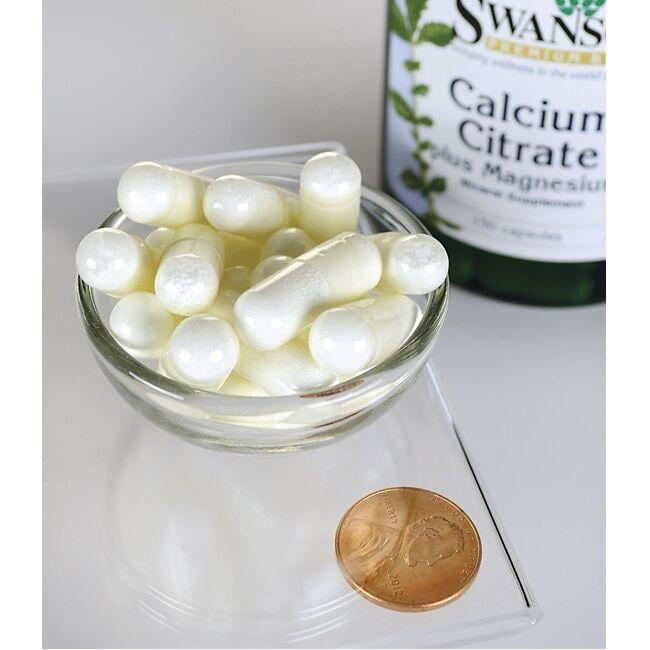 Swanson Premium Calcium Citrate Plus Magnesium Close Up