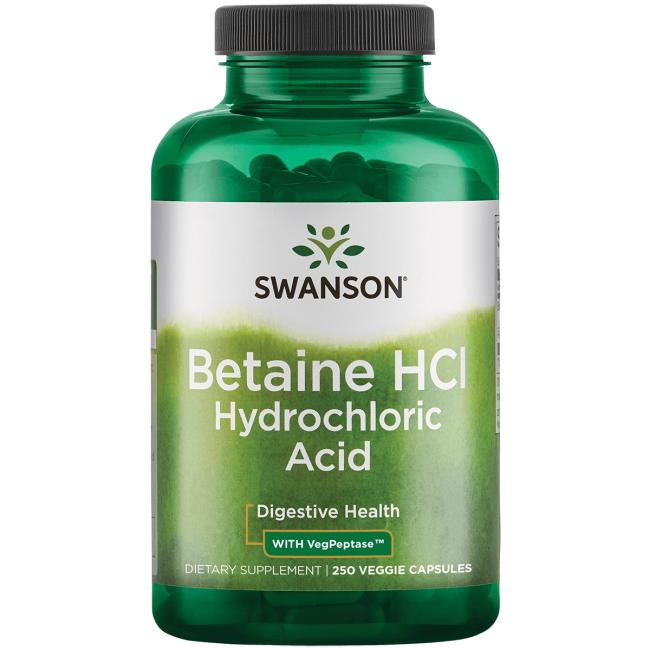 Swanson PremiumBetaine HCl Hydrochloric Acid with Pepsin