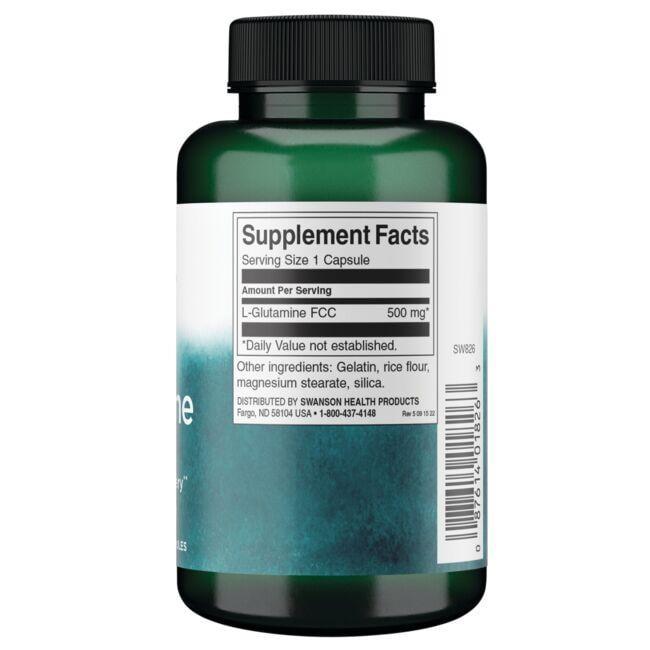 Swanson PremiumL-Glutamine Close Up