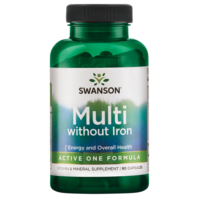 Swanson Premium Active One Multivitamin without Iron