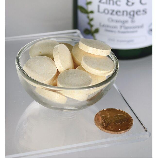 Swanson PremiumZinc & C Lozenges - Orange & Lemon Flavor Close Up
