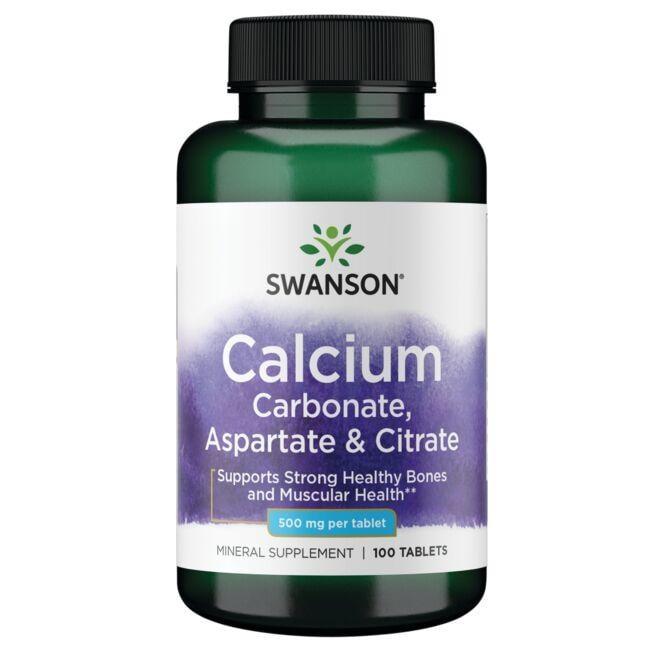 Swanson PremiumCalcium (Carbonate, Aspartate & Citrate)