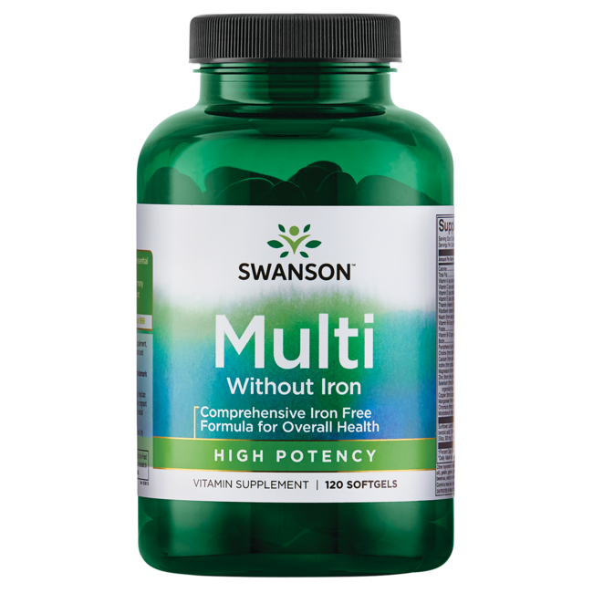 Swanson PremiumHigh Potency Softgel Multivitamin Iron Free