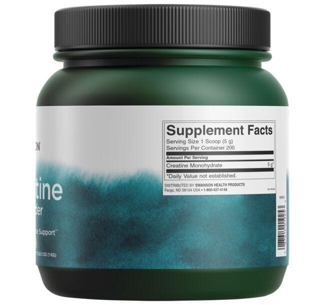 Swanson PremiumCreatine Powder - Featuring Creapure Close Up
