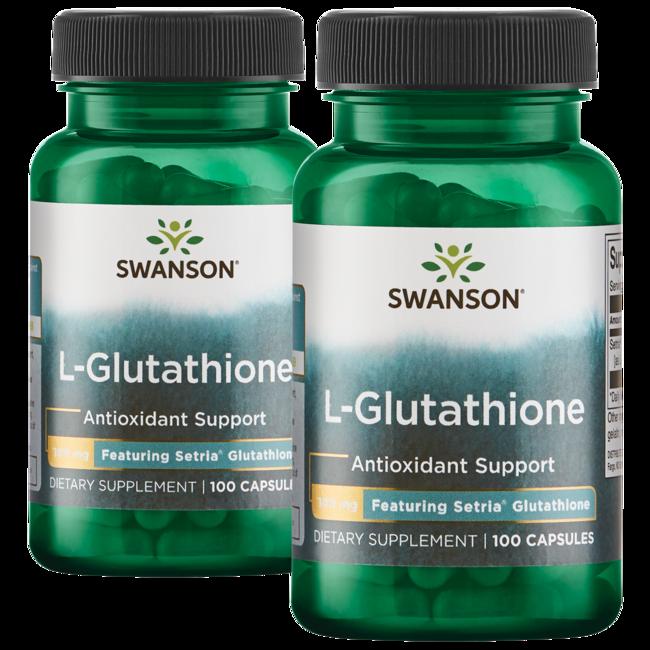swanson premium l-glutathione 100 mg 200 caps - swanson health, Skeleton