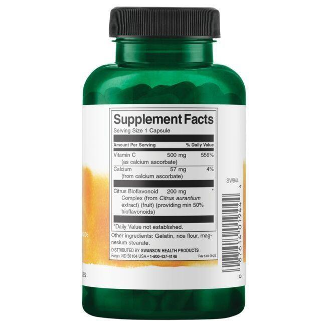 Swanson PremiumBuffered Vitamin C with Bioflavonoids Close Up