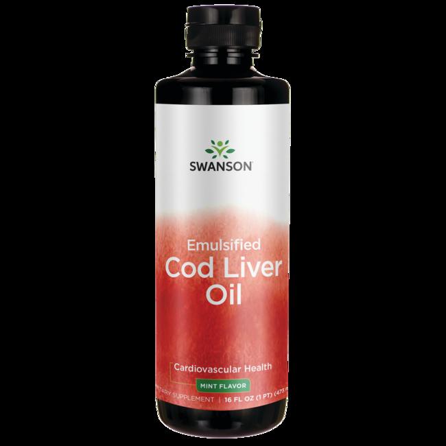 Swanson PremiumEmulsified Cod Liver Oil (Mint)