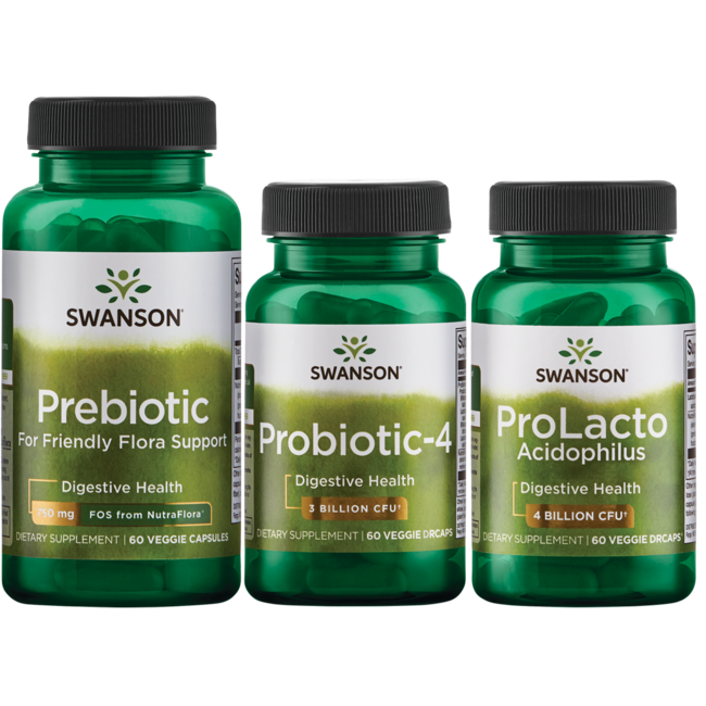 Swanson Probiotics Probiotic Triple Pack