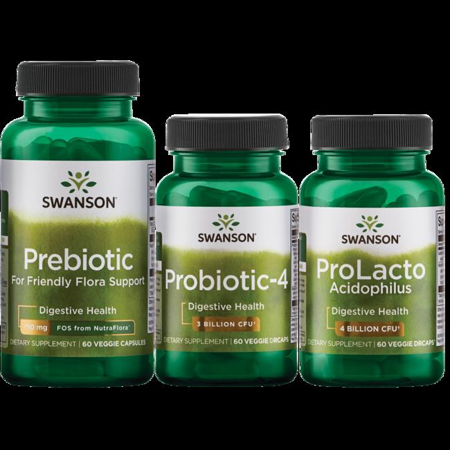 Swanson Probiotics Probiotic Triple Pack