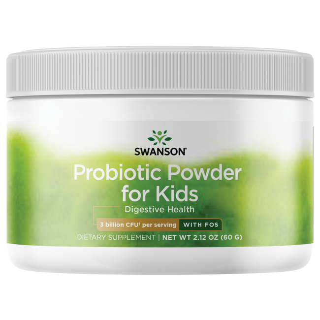 Swanson Probiotics Probiotic Powder with FOS for Kids