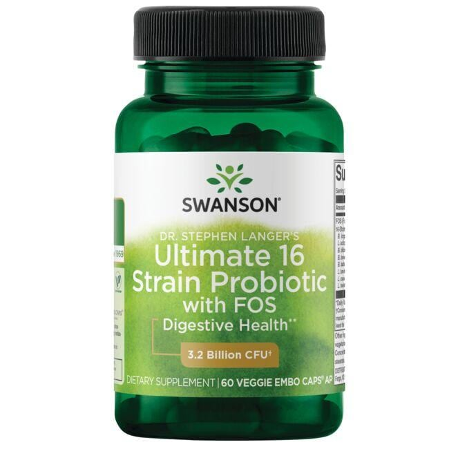 Swanson Probiotics Dr. Stephen Langer's Ultimate 16 Strain Probiotic  with FOS