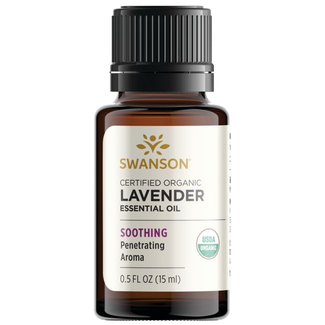 Swanson Aromatherapy Certified Organic Lavender Essential Oil