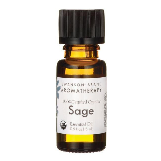 Swanson AromatherapyCertified Organic Sage Essential Oil