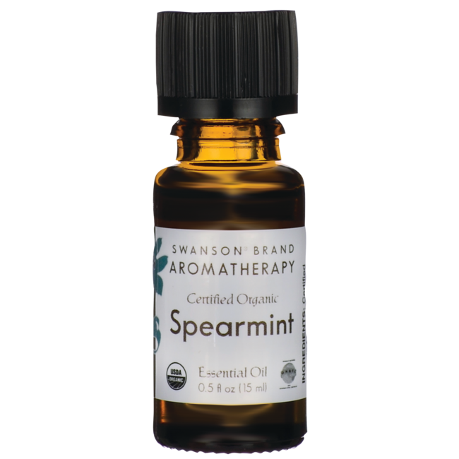 Swanson Aromatherapy Certified Organic Spearmint Essential Oil