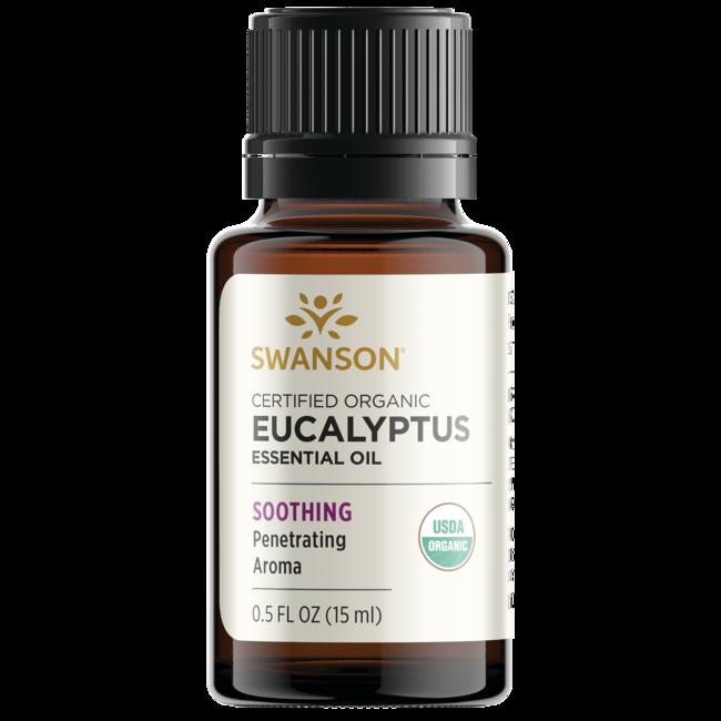 Swanson Aromatherapy Certified Organic Eucalyptus Essential Oil