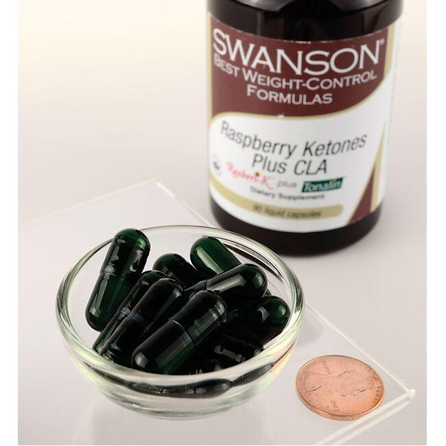 Swanson Best Weight-Control Formulas Raspberry Ketones plus CLA Close Up