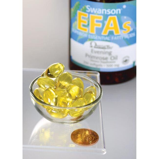 Swanson EFAs Evening Primrose Oil Close Up