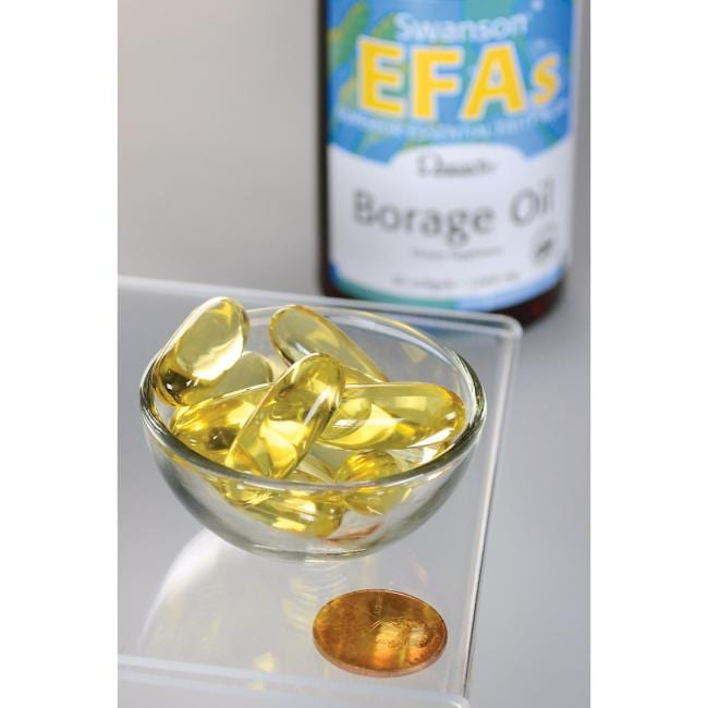 Swanson EFAs Borage Oil Close Up