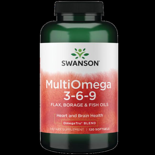 Swanson EFAsMultiOmega 3-6-9 (Flax, Borage, Fish)