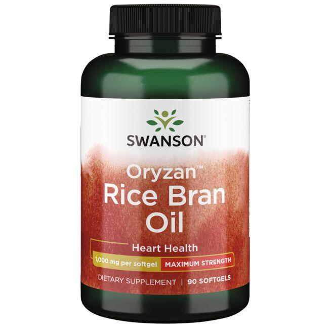 Swanson EFAs Maximum Strength Rice Bran Oil Oryzan