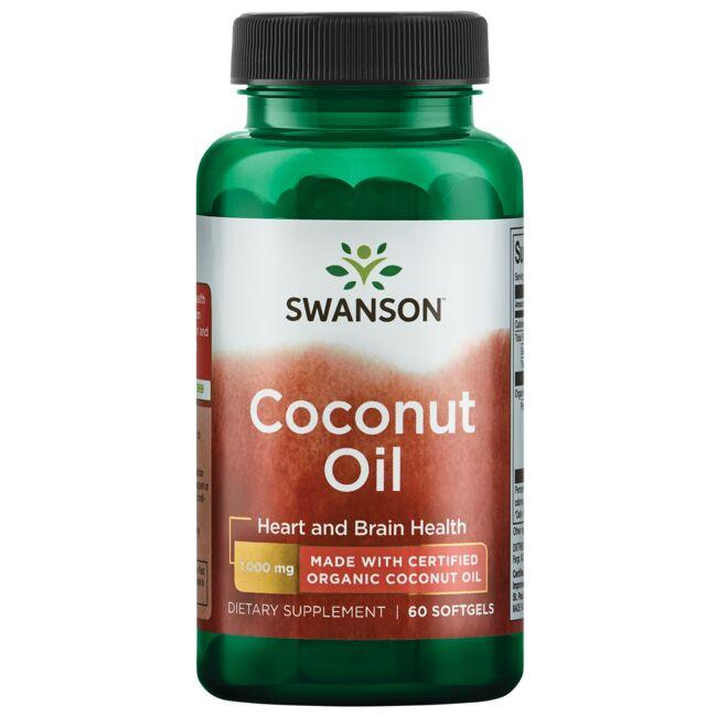 Swanson EFAs Coconut Oil Made with Certified Organic Coconut Oil