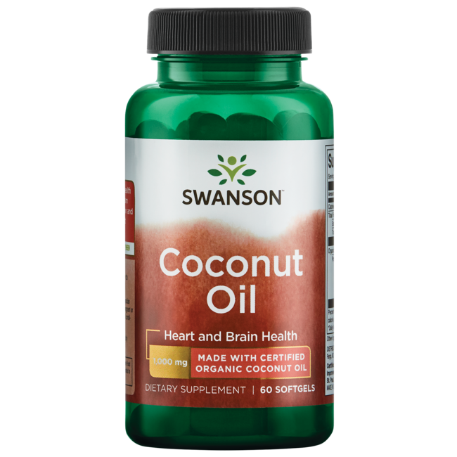 Swanson EFAs Certified Organic Coconut Oil