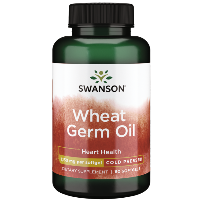 Swanson EFAs 100% Natural Cold-Pressed Wheat Germ Oil
