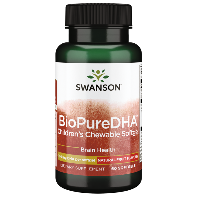 Swanson EFAsBioPure DHA Fish Oil Chewable Softgels