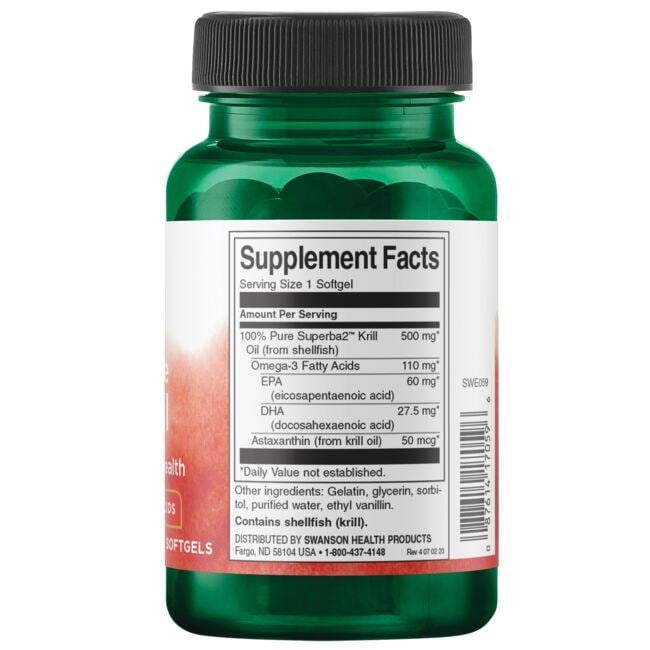 Swanson EFAs100% Pure Krill Oil Close Up