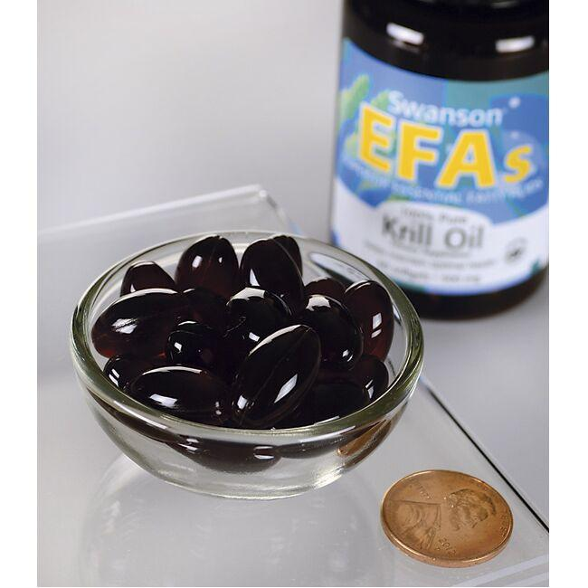 Swanson EFAs 100% Pure Krill Oil Close Up