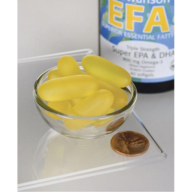 Swanson EFAsTriple Strength Super EPA & DHA - Enteric Coated Close Up