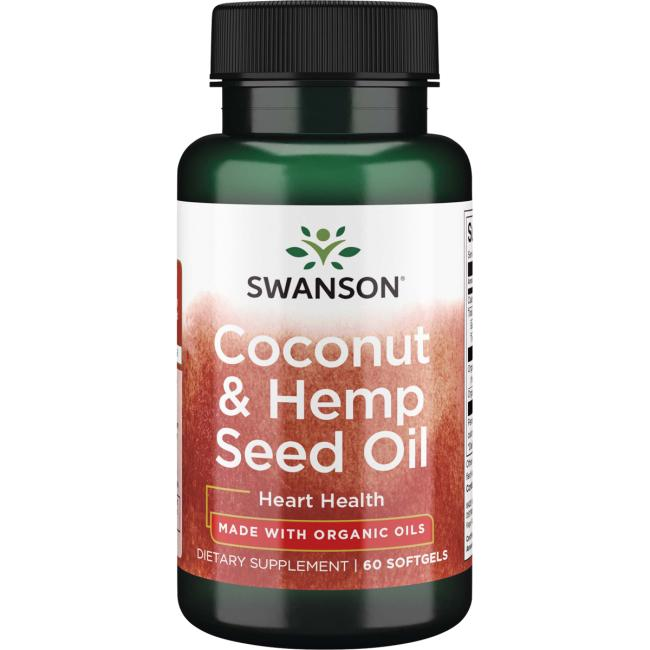Swanson EFAs Coconut & Hemp Seed Oil - Made with Organic Oils