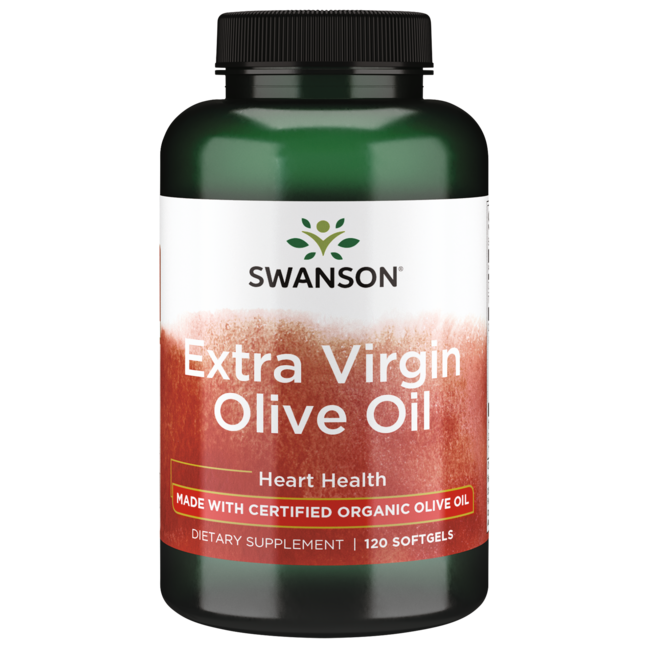 Swanson EFAsWith Certified Organic Extra Virgin Olive Oil, Cold-Pressed