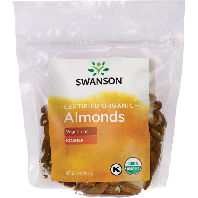 Swanson Organic Certified Organic Almonds, Natural