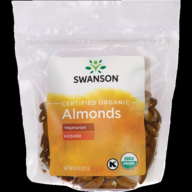 Swanson Organic Certified Organic Almonds, Natural