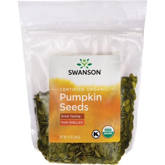 Swanson Organic Certified Organic Pumpkin Seeds, Shelled