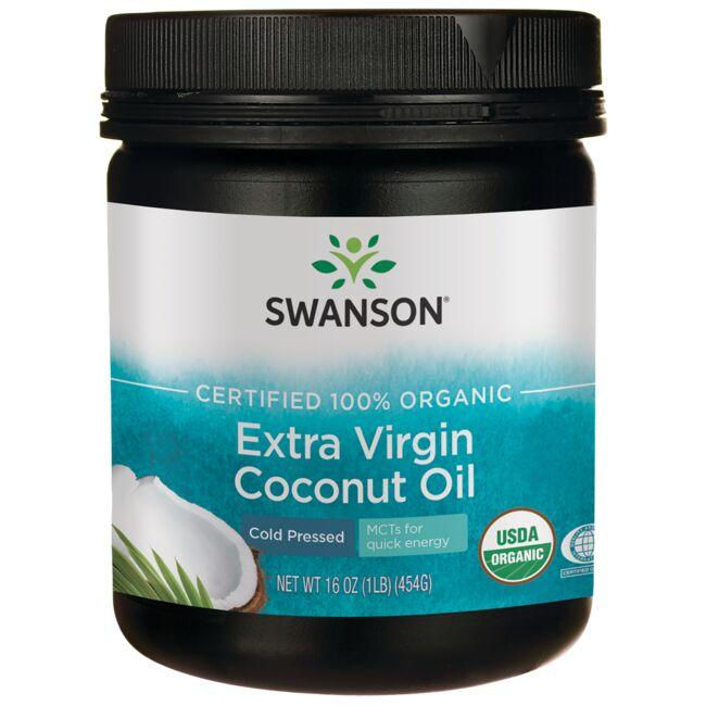 Swanson OrganicCertified 100% Organic Extra Virgin Coconut Oil - Cold Pressed