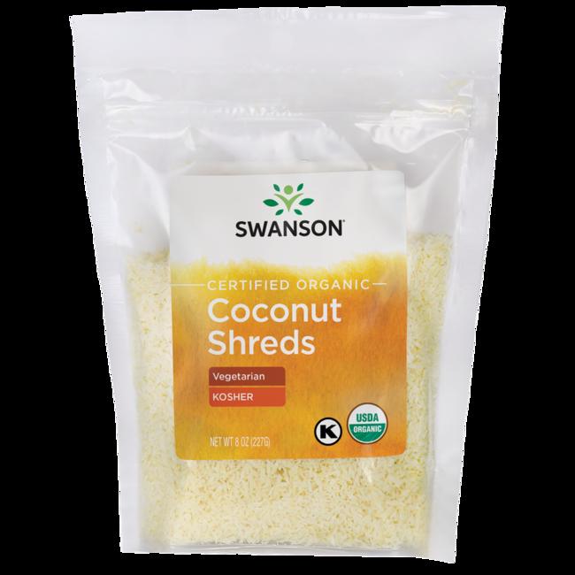 Swanson Organic Certified Organic Unsulphured Coconut Shreds