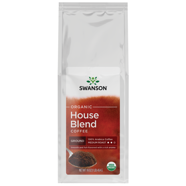 Swanson Organic House Blend Fine Ground Organic Coffee - Medium
