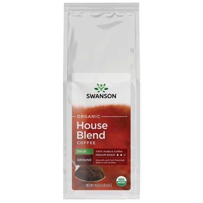 Swanson Organic Organic House Blend Decaf Ground Coffee - Medium Roast