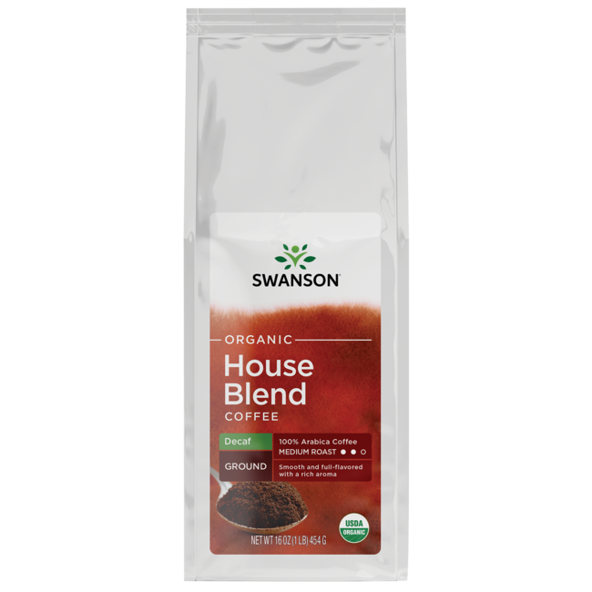 Swanson Organic House Blend Decaf Fine Ground Organic Coffee - Medium