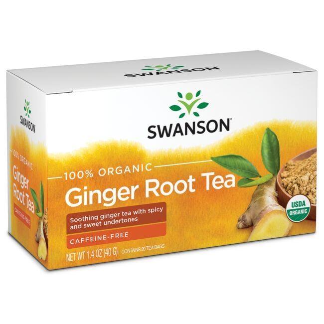 Swanson Organic100% Organic Ginger Root Tea