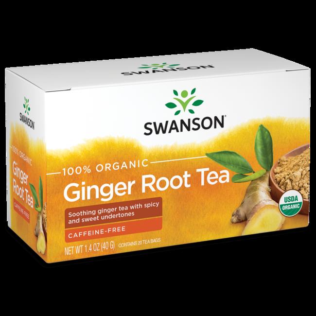 Swanson Organic 100% Certified Organic Ginger Root Tea