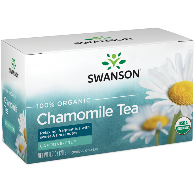 Swanson Organic 100% Certified Organic Chamomile Tea
