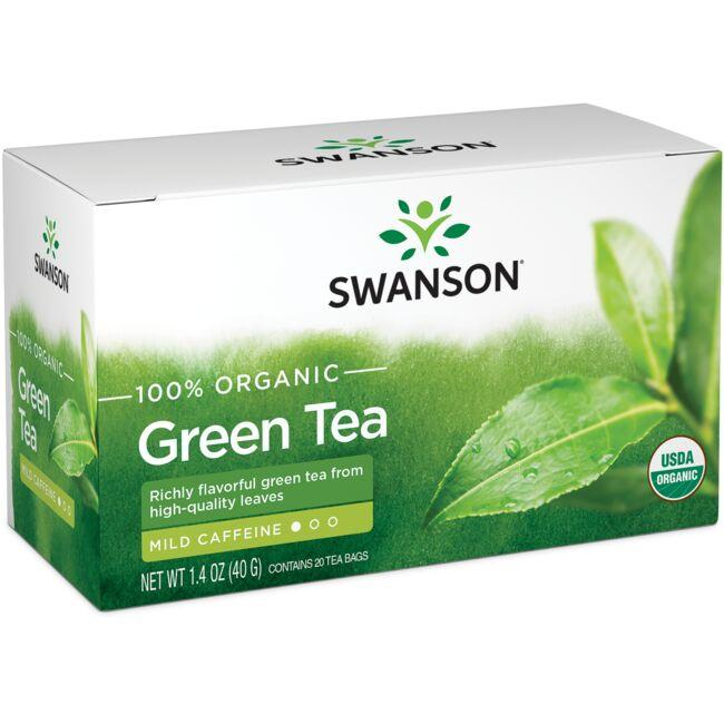 Swanson Organic100% Organic Green Tea