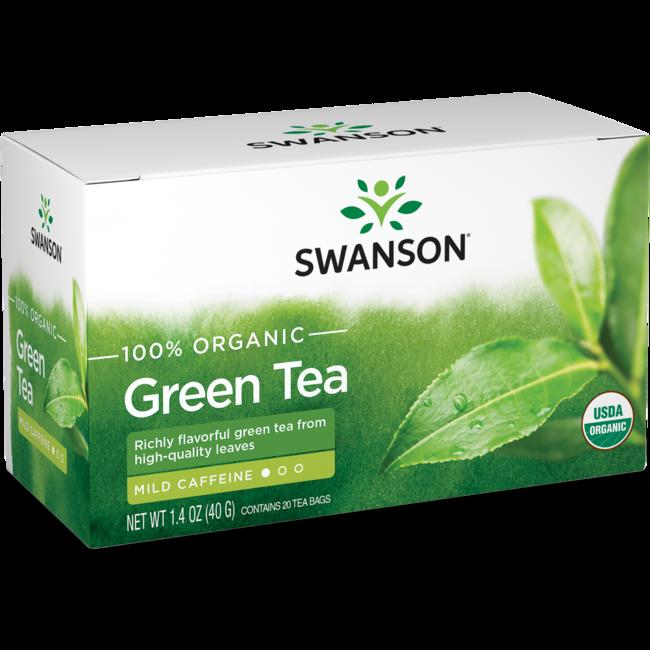 Swanson Organic 100% Certified Organic Green Tea